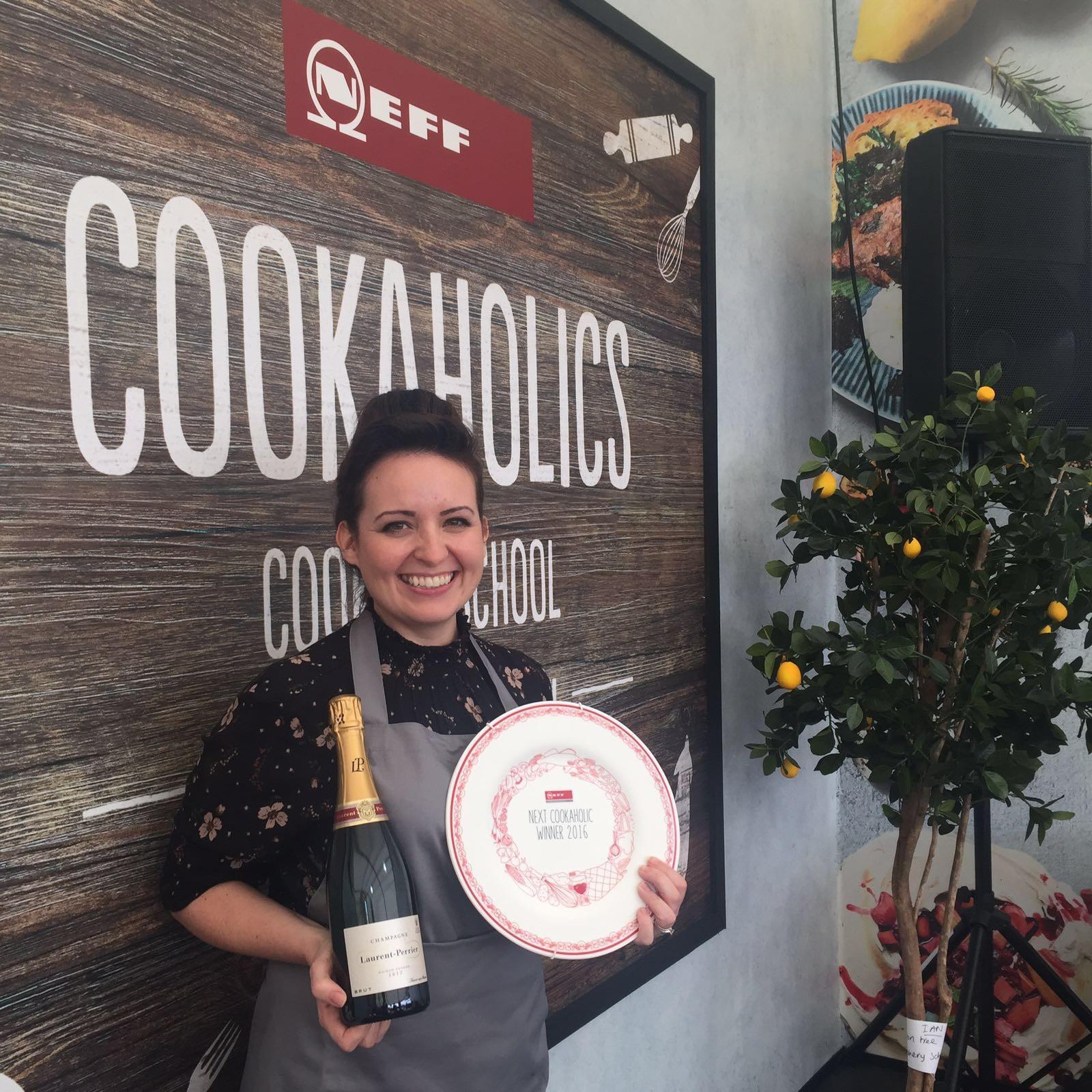 Nicky Corbishley with award