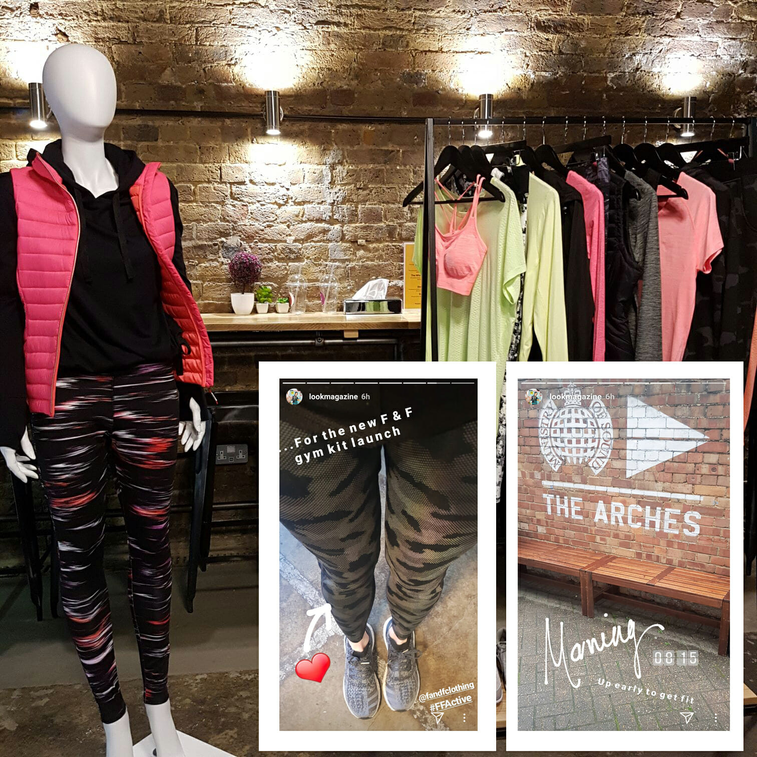 Igniting interest in the new F&F activewear range at Tesco